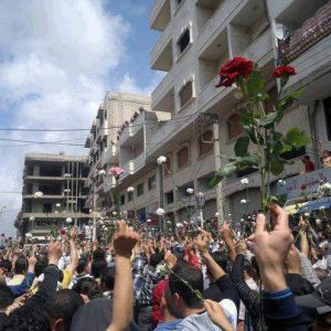 This is Banyas - Syria at the start of peaceful protests. Few days ago a savage massacre took place in this area committed by ASSad troops and loyalties.