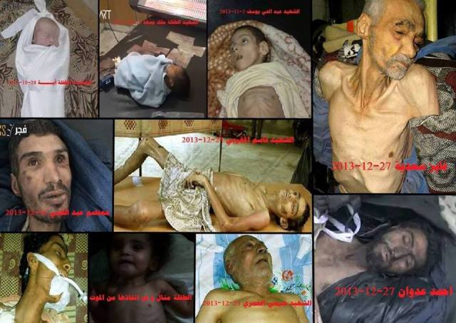 A number of Palestinians died from starvation recently in Al Yarmouk Camp for Palestinian refugees in Damascus - Syria