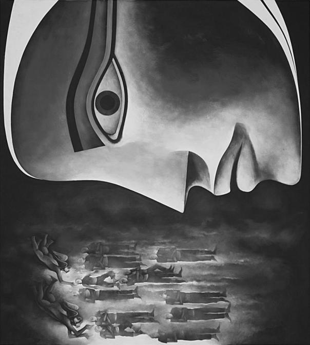 Safwan Dahoul - Syrian Artist Dream 67, 2013, Acrylic on Canvas, 200 x 180 cm —