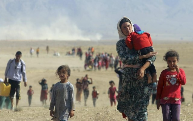 Yazidis escaping death