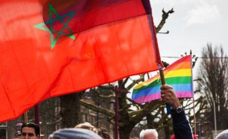 National  Spanish feminist expelled from Morocco A Moroccan flag and a rainbow flag for gay rights in a protest in the Netherlands. Photo: Alex Proimos / Flickr Creative Commons.